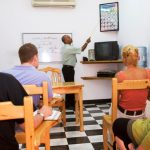 Classroom 1 in session